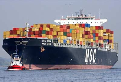 Container shipping to Montreal
